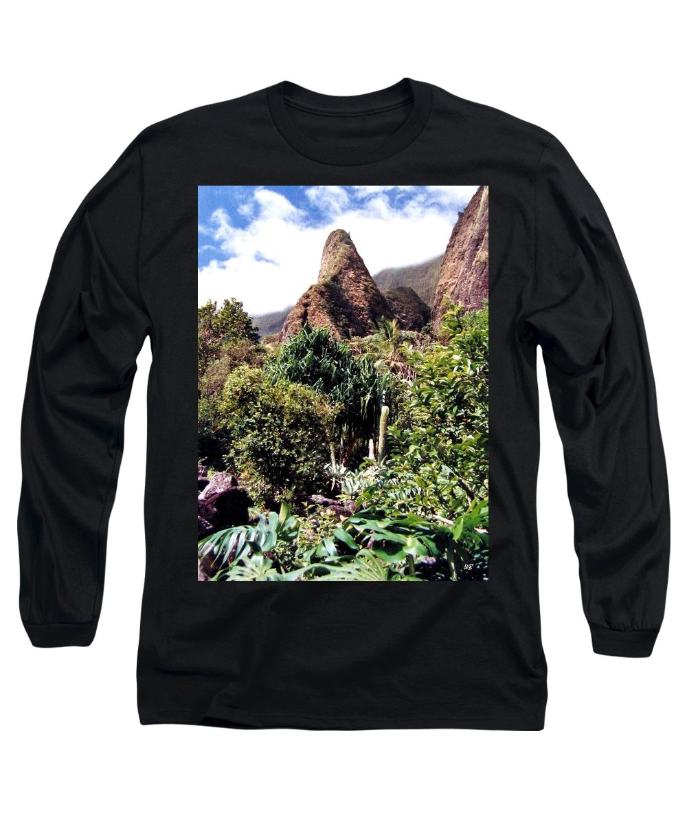 1986 Long Sleeve T-Shirt featuring the photograph Iao Needle by Will Borden