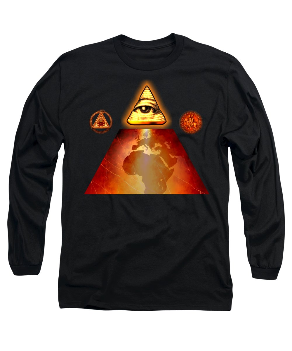 Fantasy Long Sleeve T-Shirt featuring the painting Illuminati World By Pierre Blanchard by Pierre Blanchard