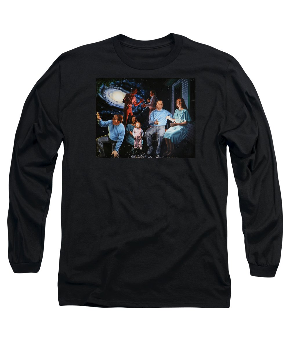 Surreal Long Sleeve T-Shirt featuring the painting Illumination Beyond Ursa Major by Dave Martsolf