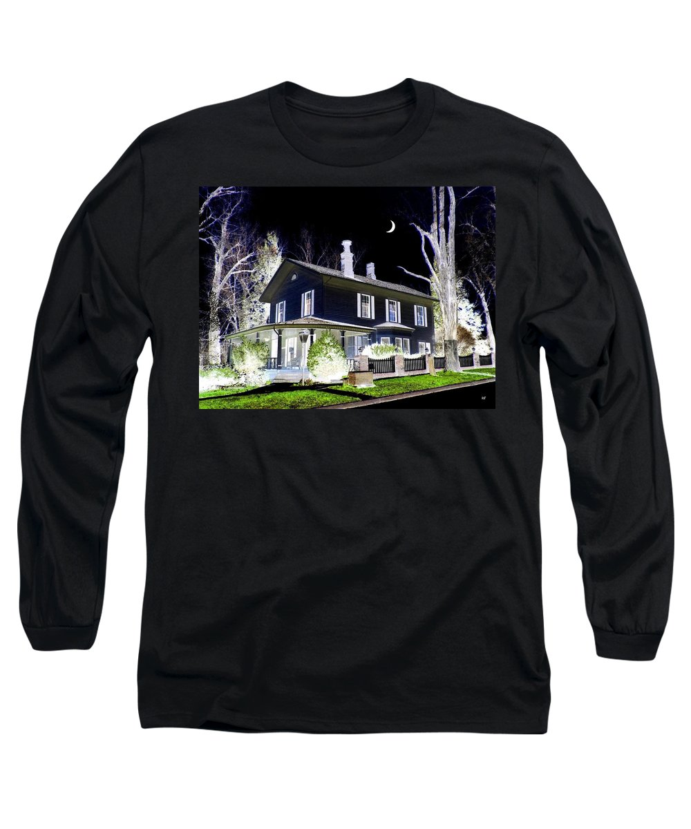 Impressions Long Sleeve T-Shirt featuring the digital art Impressions 5 by Will Borden
