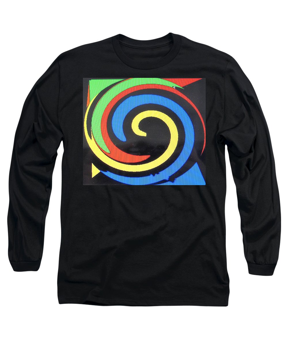 Red Long Sleeve T-Shirt featuring the digital art In Balance by Ian MacDonald