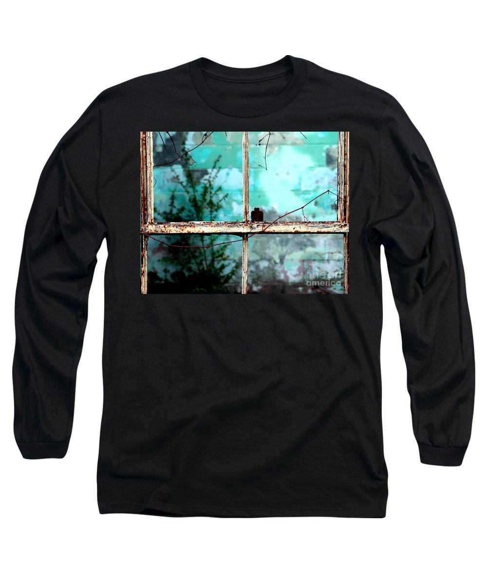 Windows Long Sleeve T-Shirt featuring the photograph In Or Out by Amanda Barcon