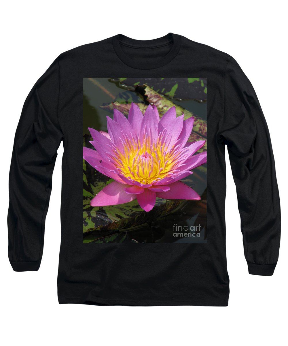 Lotus Long Sleeve T-Shirt featuring the photograph In Position by Amanda Barcon