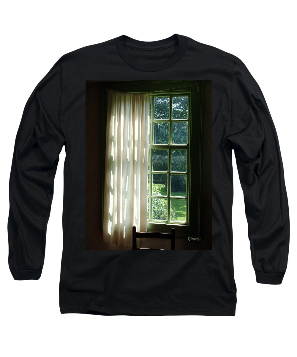 Window Long Sleeve T-Shirt featuring the photograph In The Quiet Of The Afternoon by RC deWinter