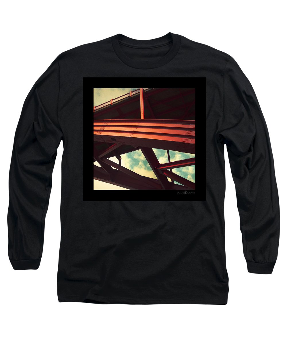 Bridge Long Sleeve T-Shirt featuring the photograph Infrastructure by Tim Nyberg