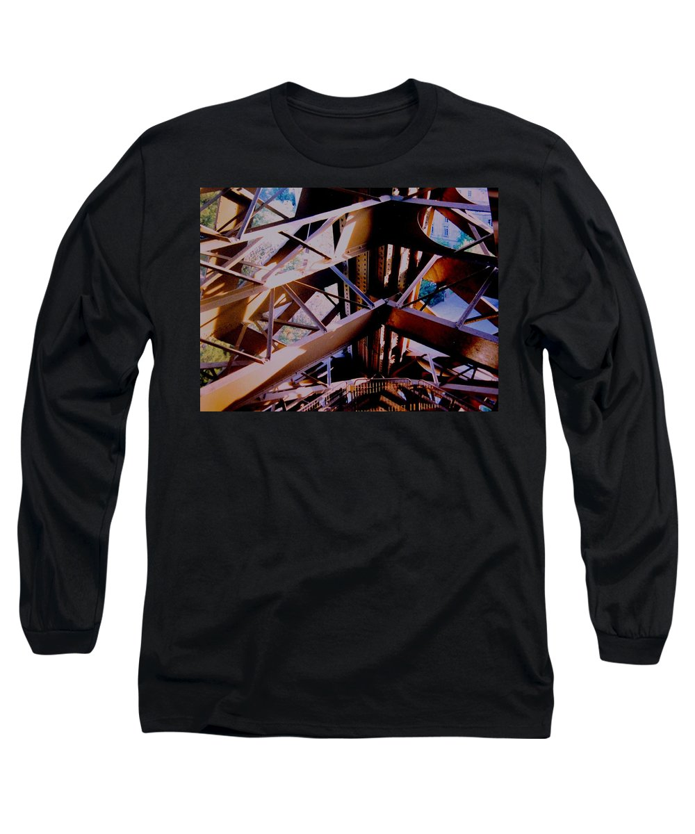 Eiffel Long Sleeve T-Shirt featuring the photograph Inside Eiffel by Ian MacDonald