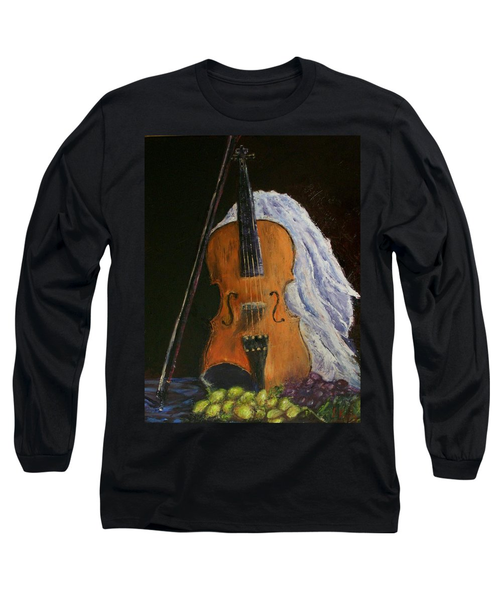 Original Long Sleeve T-Shirt featuring the painting Intermission by Stephen King