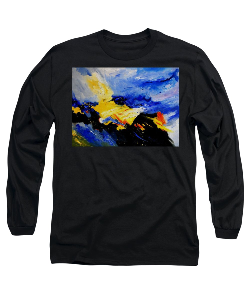 Abstract Long Sleeve T-Shirt featuring the painting Interstellar Overdrive 2 by Pol Ledent