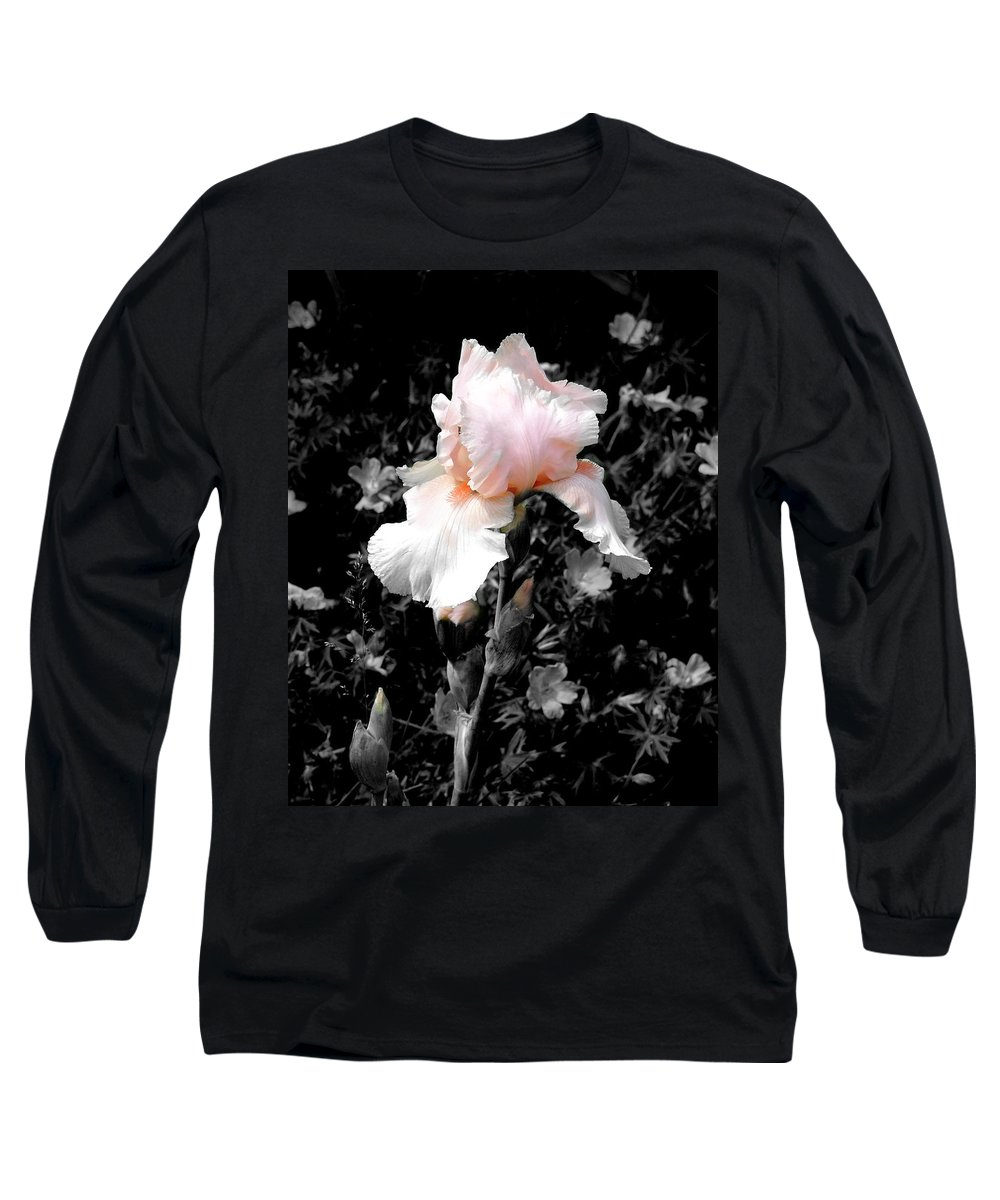Flower Long Sleeve T-Shirt featuring the photograph Iris Emergance by Steve Karol