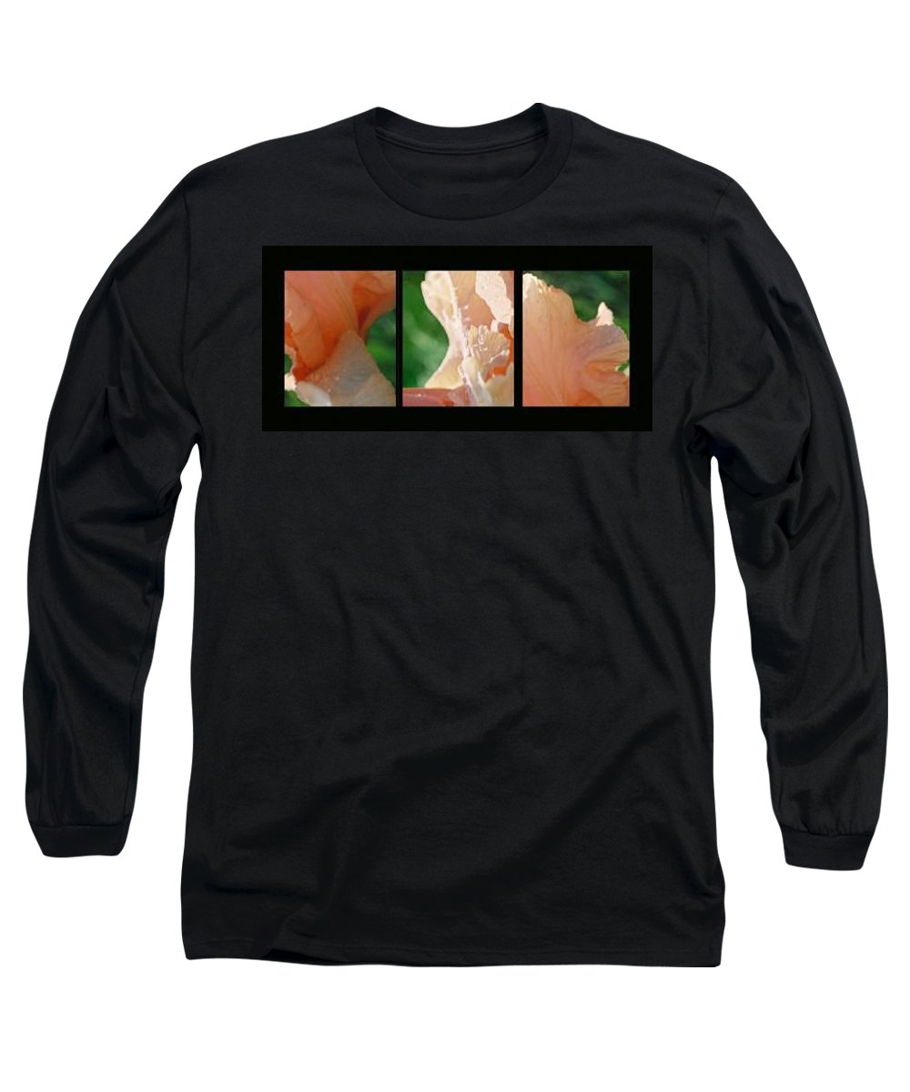 Abstract Long Sleeve T-Shirt featuring the photograph Iris by Steve Karol