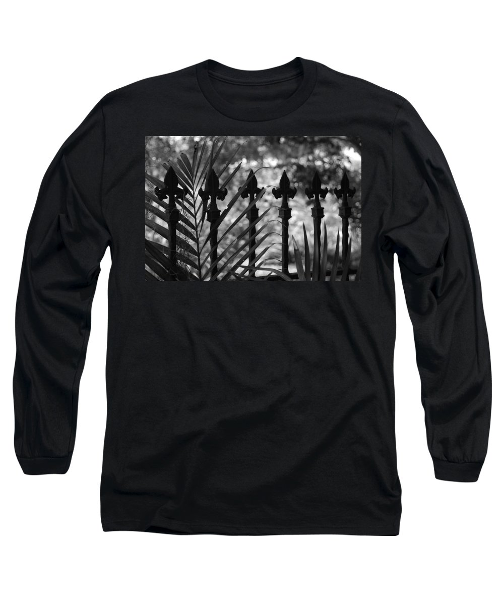 Wrought Iron Long Sleeve T-Shirt featuring the photograph Iron Fence by Rob Hans