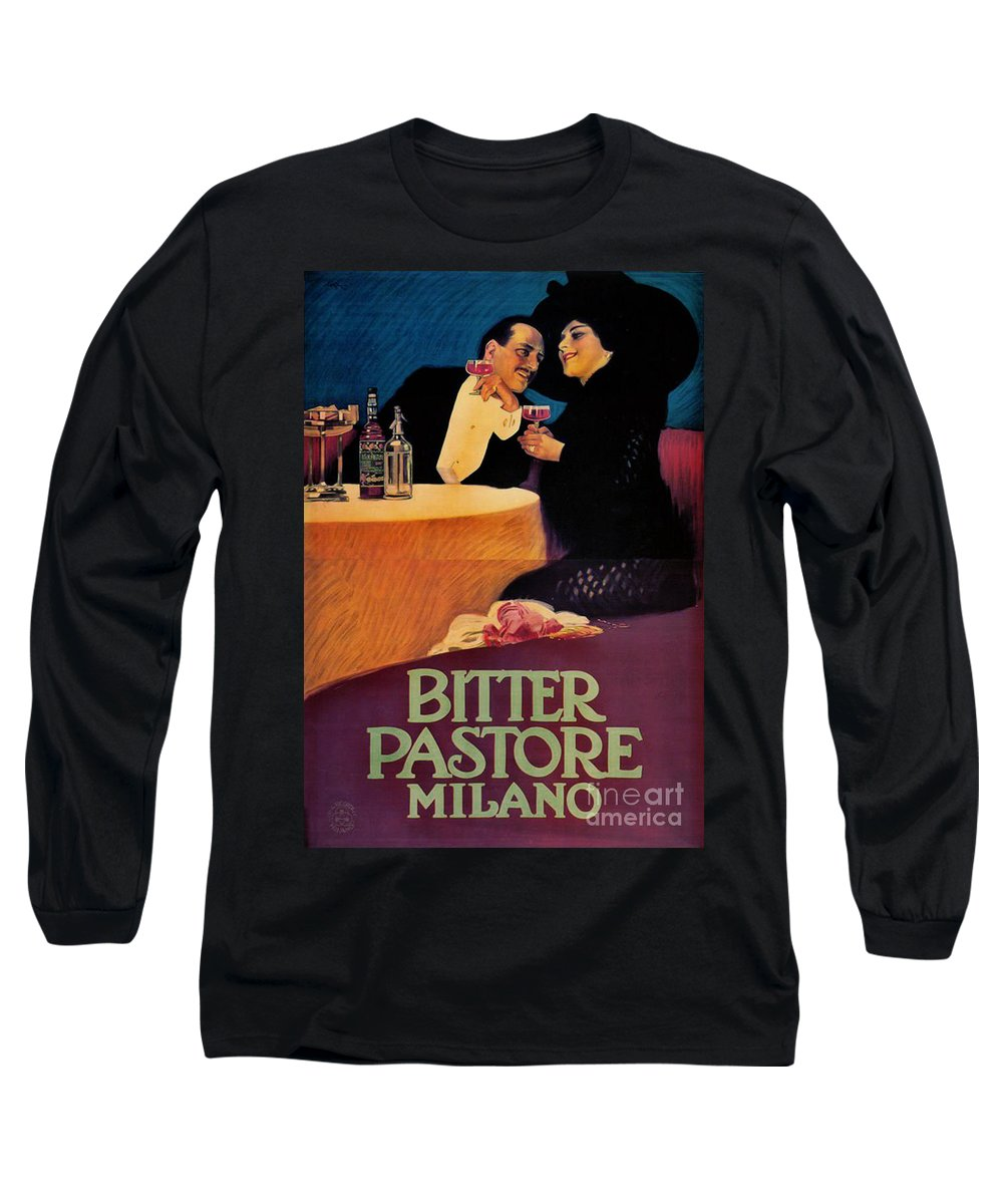 Italian Bitters Ad 1913 Long Sleeve T-Shirt featuring the photograph Italian Bitters Ad 1913 by Padre Art
