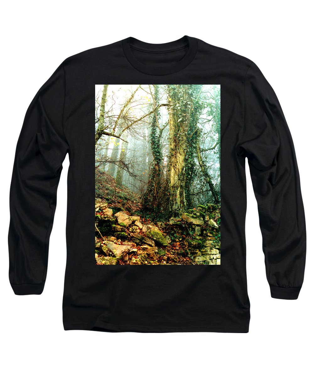 Ivy Long Sleeve T-Shirt featuring the photograph Ivy In The Woods by Nancy Mueller