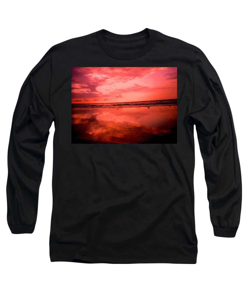 Sunset Long Sleeve T-Shirt featuring the photograph Jamaica Sunset by Ian MacDonald