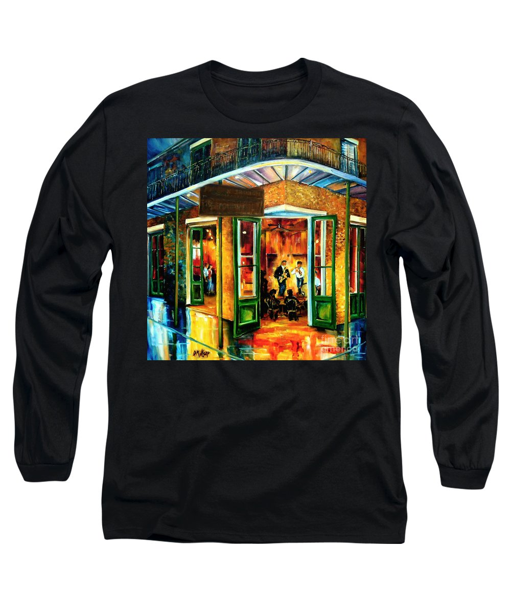 New Orleans Long Sleeve T-Shirt featuring the painting Jazz At The Maison Bourbon by Diane Millsap