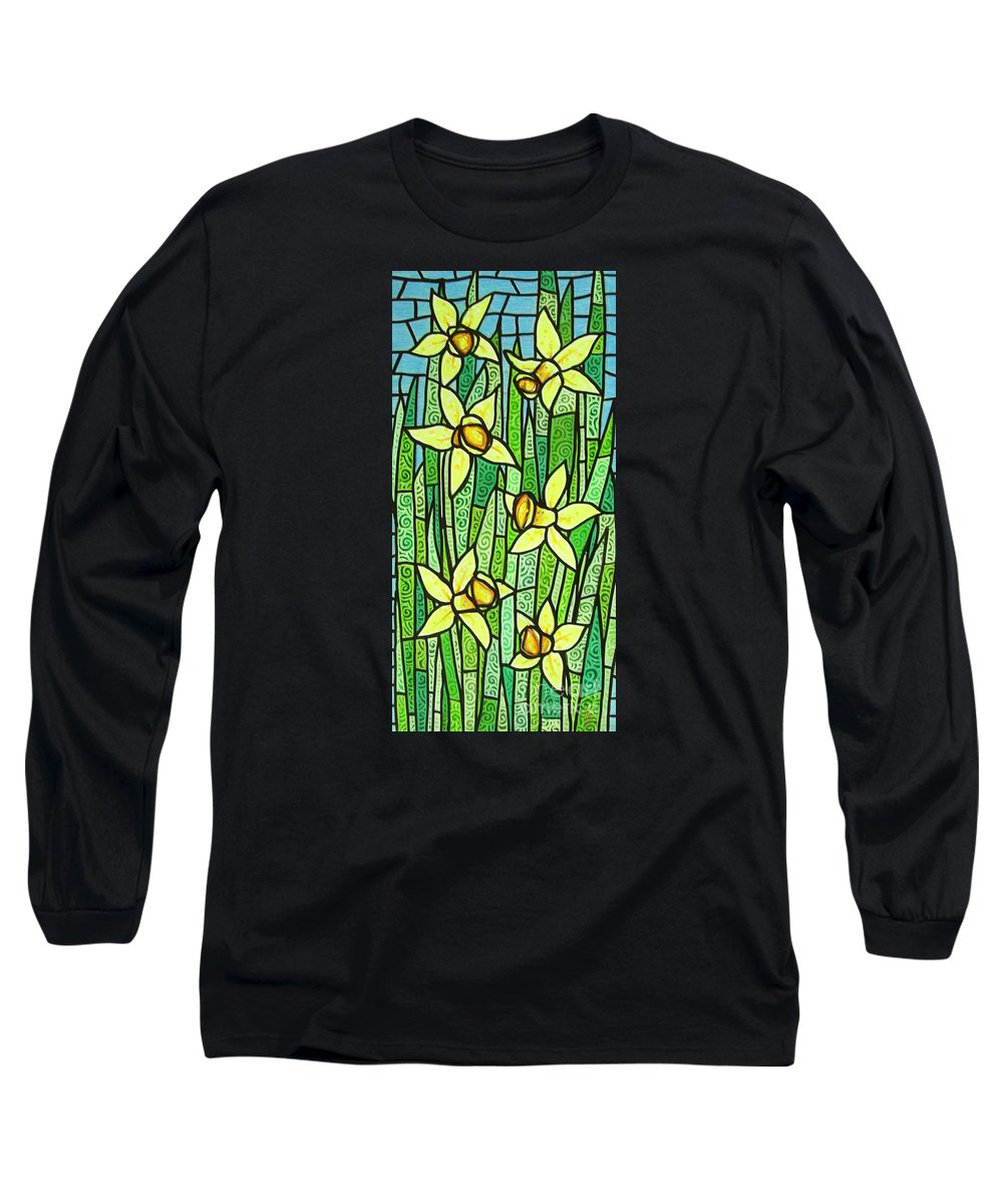 Jonquils Long Sleeve T-Shirt featuring the painting Jonquil Glory by Jim Harris