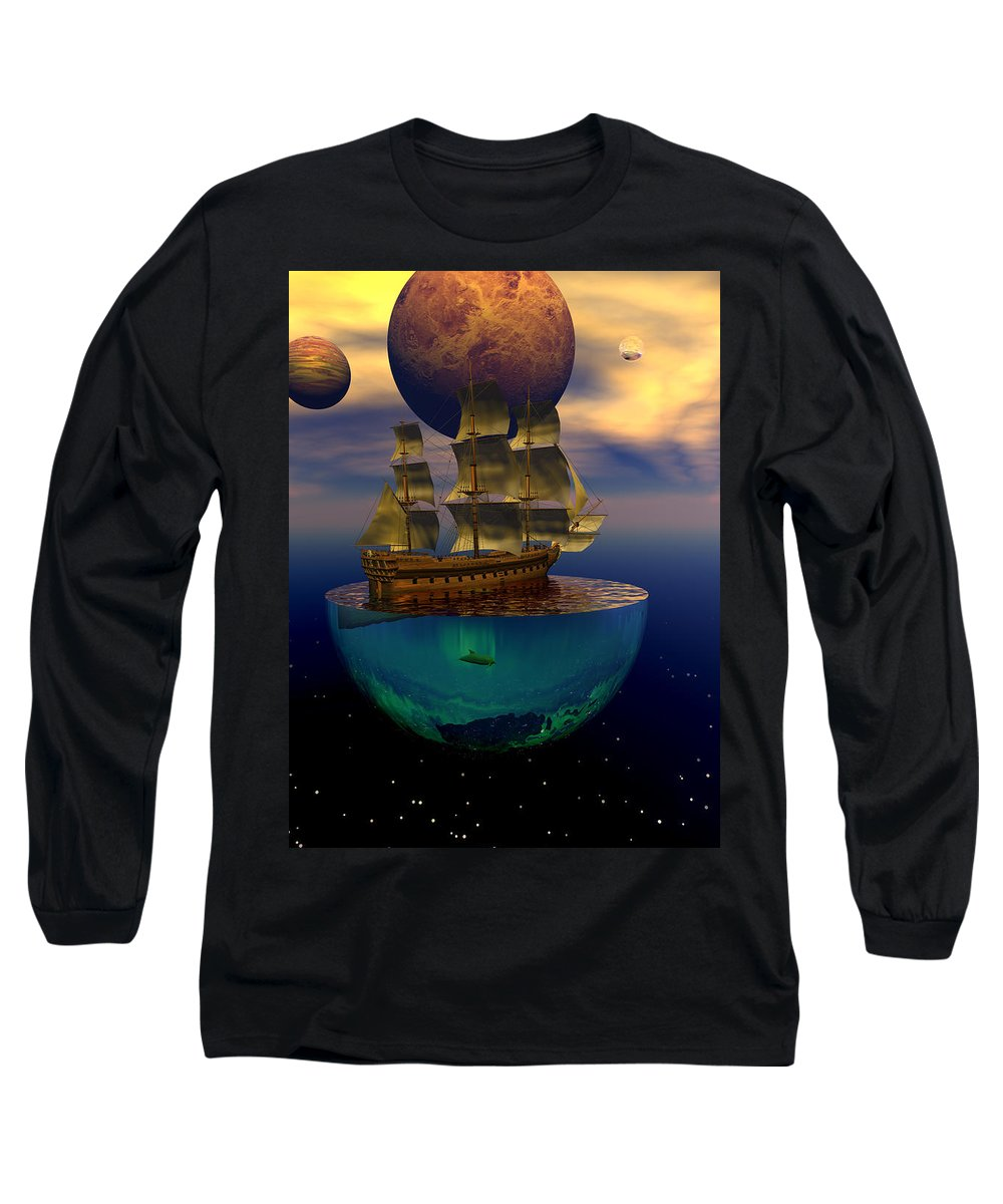 Bryce Long Sleeve T-Shirt featuring the digital art Journey Into Imagination by Claude McCoy