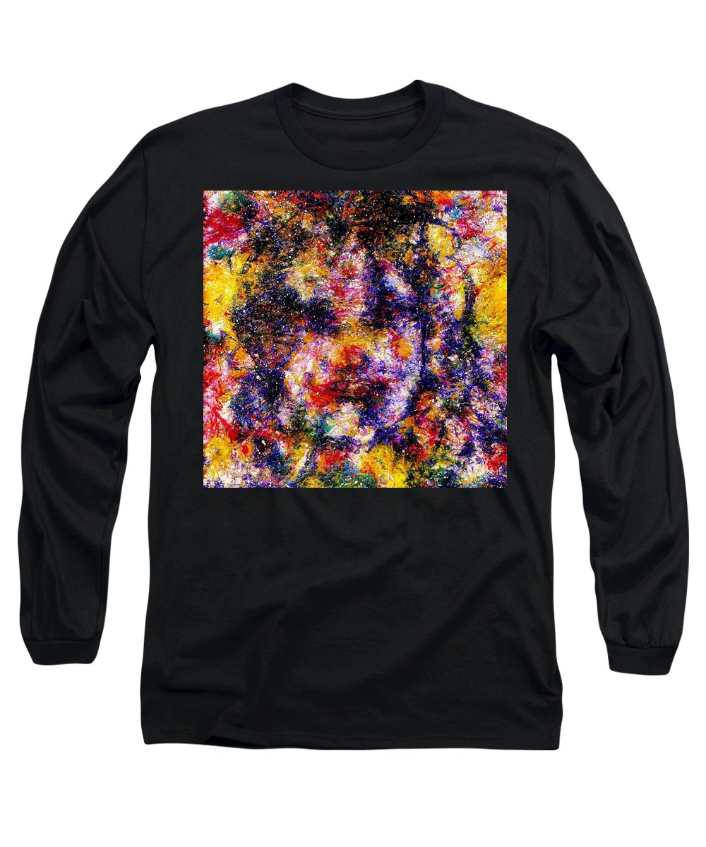 Expressionism Long Sleeve T-Shirt featuring the painting Joyful Clown by Natalie Holland