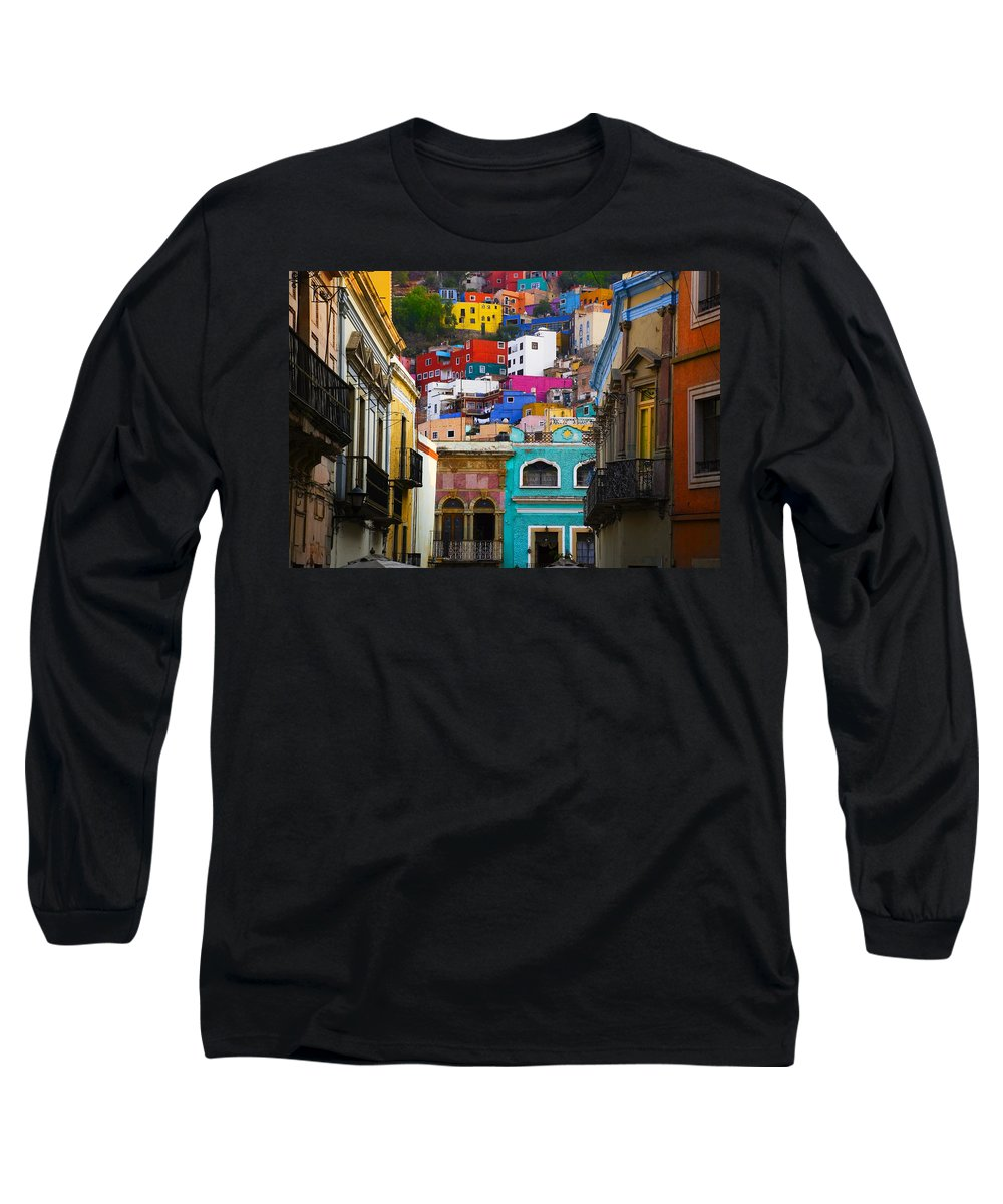 Architecture Long Sleeve T-Shirt featuring the photograph Juegos In Guanajuato by Skip Hunt