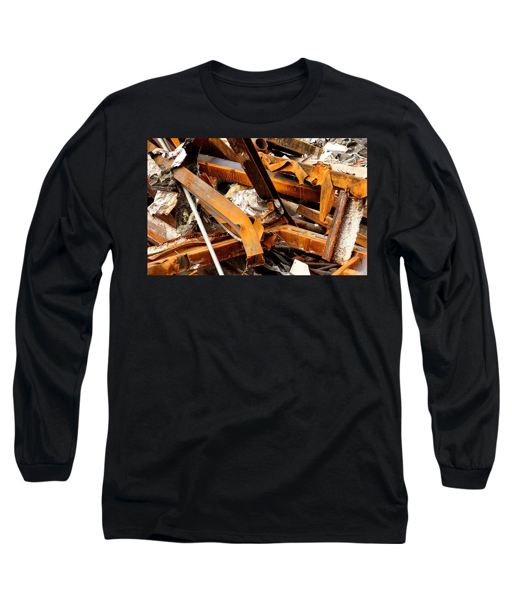 Steel Long Sleeve T-Shirt featuring the photograph Jumbled Steel by Jean Macaluso