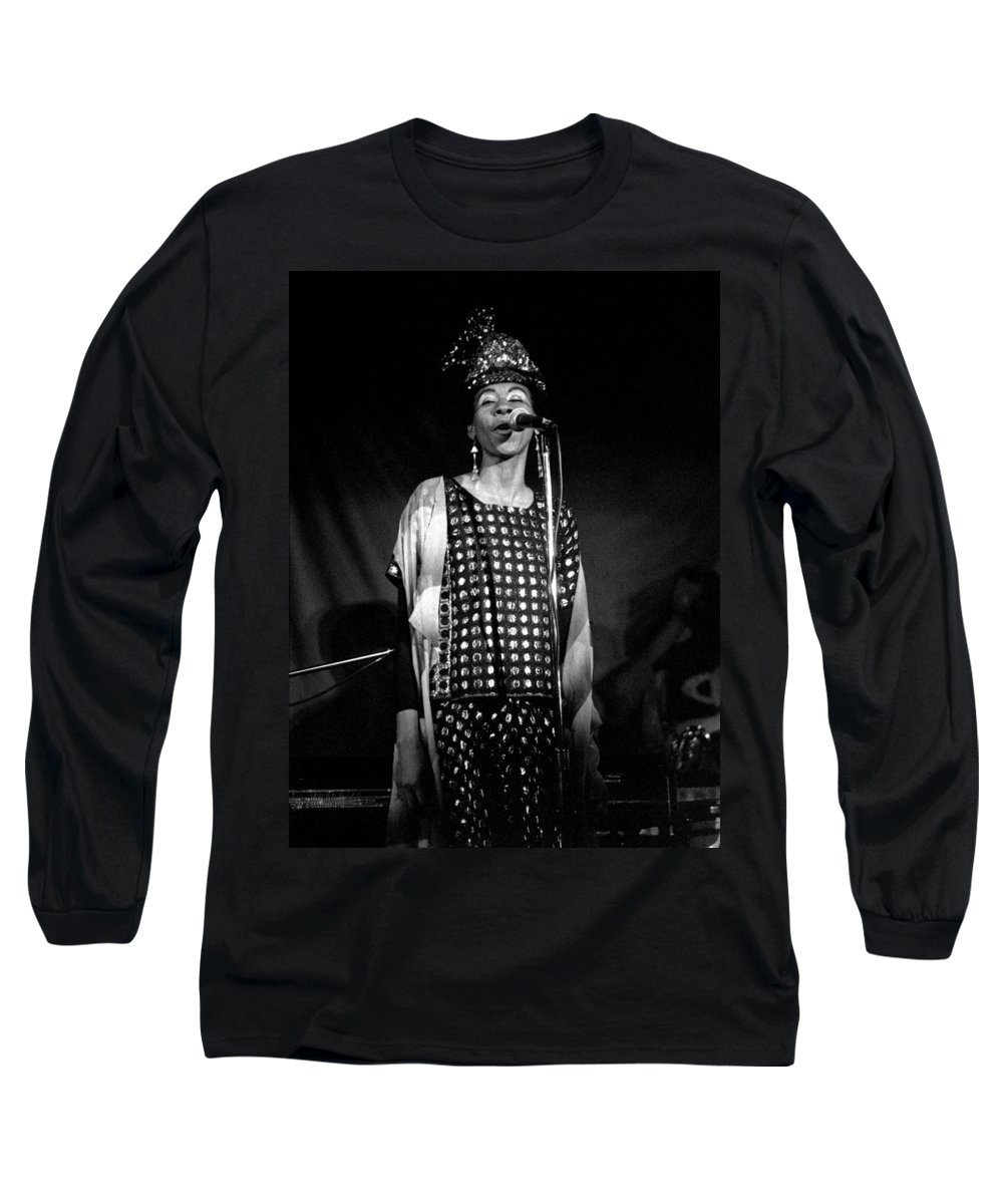 June Tyson Long Sleeve T-Shirt featuring the photograph June Tyson by Lee Santa