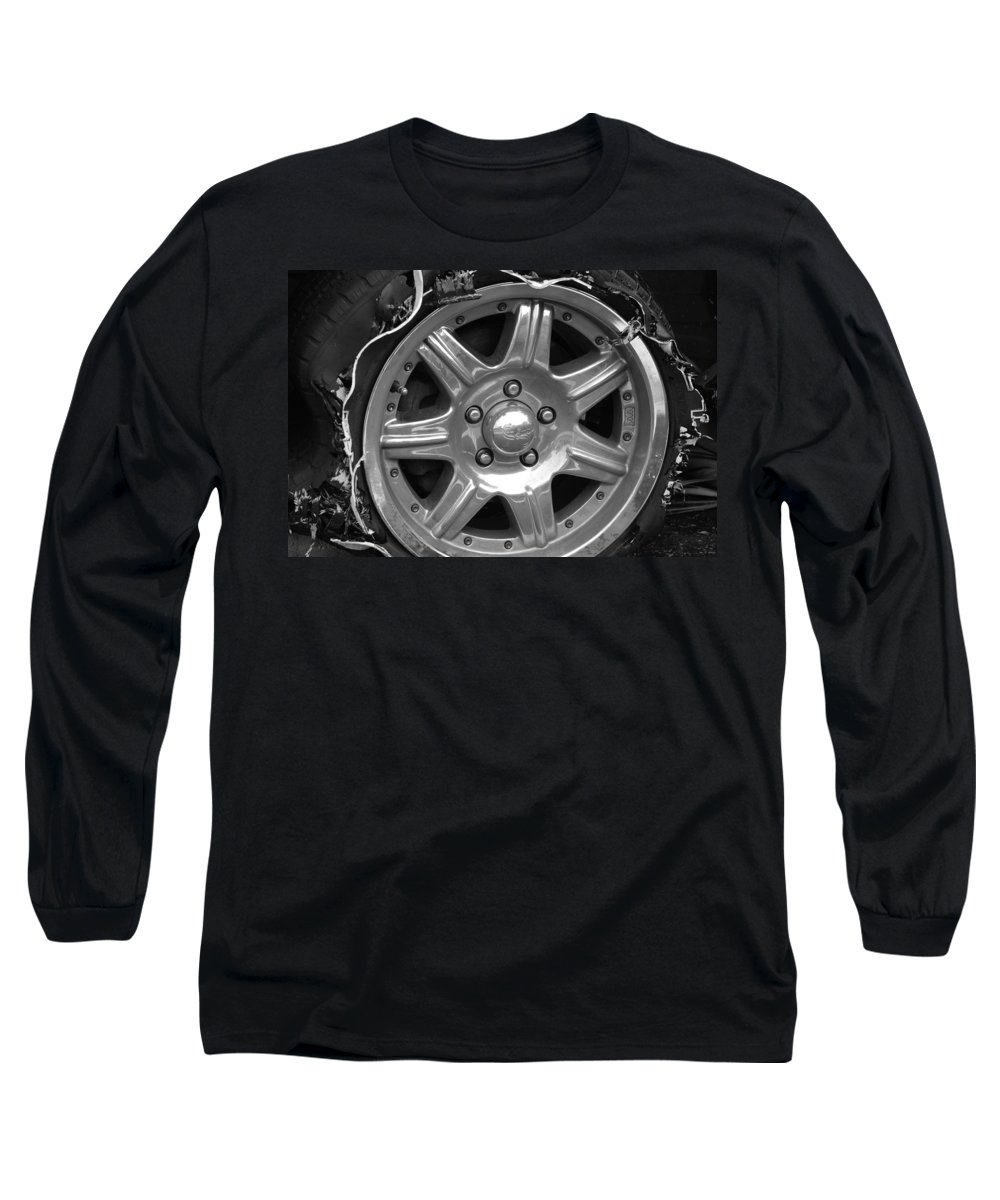 Black And White Long Sleeve T-Shirt featuring the photograph Karma Is A Bitch by Rob Hans