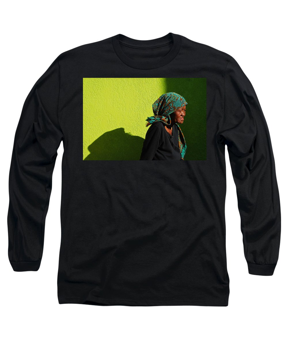 Africa Long Sleeve T-Shirt featuring the photograph Lady In Green by Skip Hunt