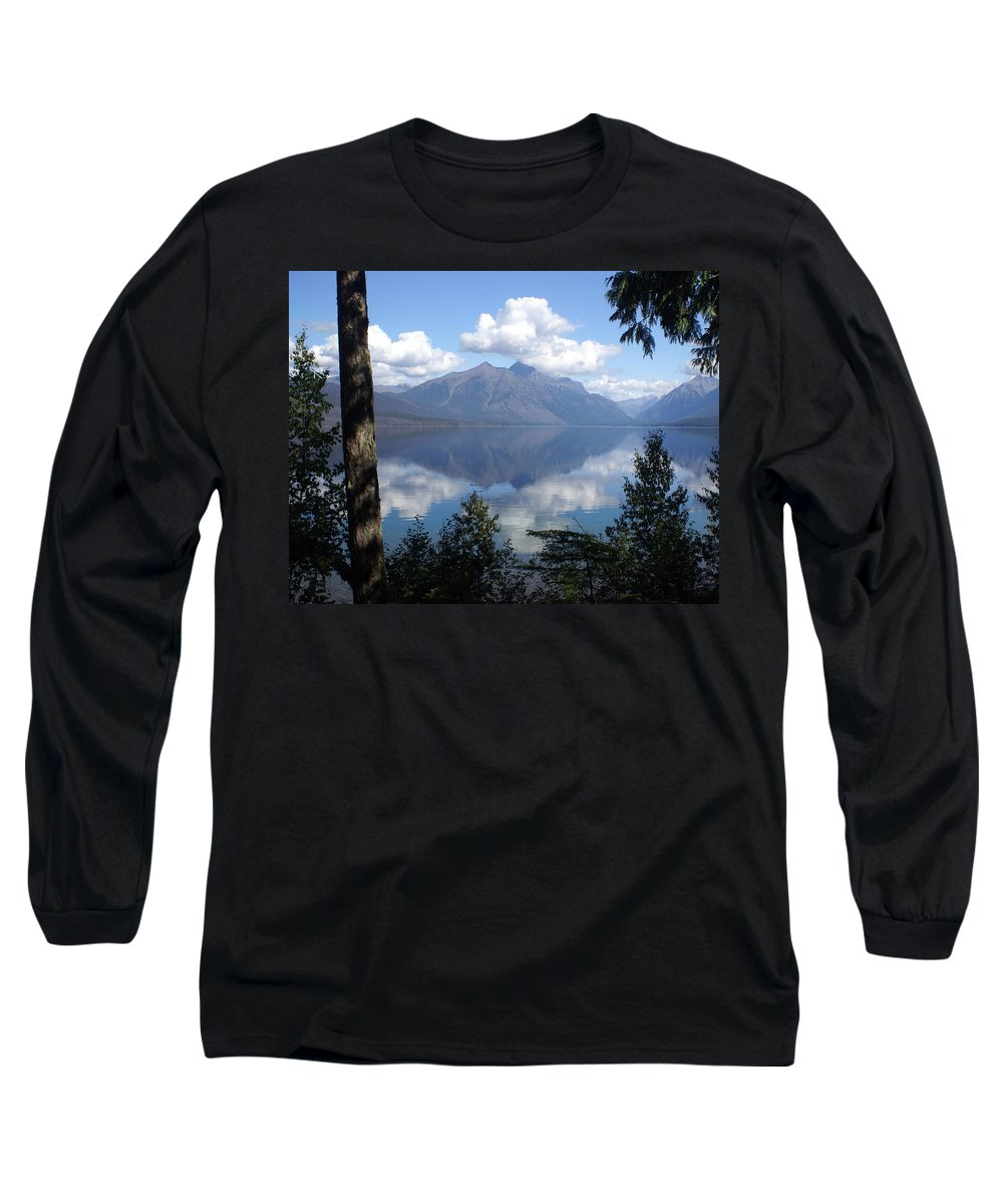 Lake Long Sleeve T-Shirt featuring the photograph Lake Mcdonald Glacier National Park by Marty Koch