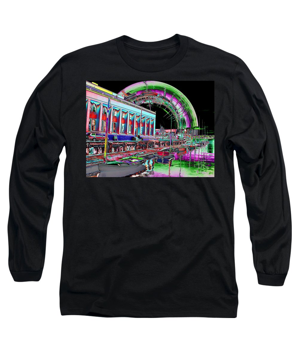 Seattle Long Sleeve T-Shirt featuring the photograph Lake Union Rainbow by Tim Allen