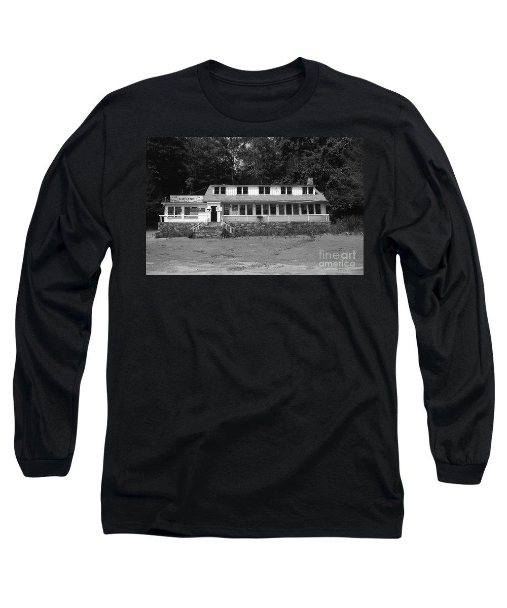 Connecticut Long Sleeve T-Shirt featuring the photograph Lake Waramaug Casino by Richard Rizzo