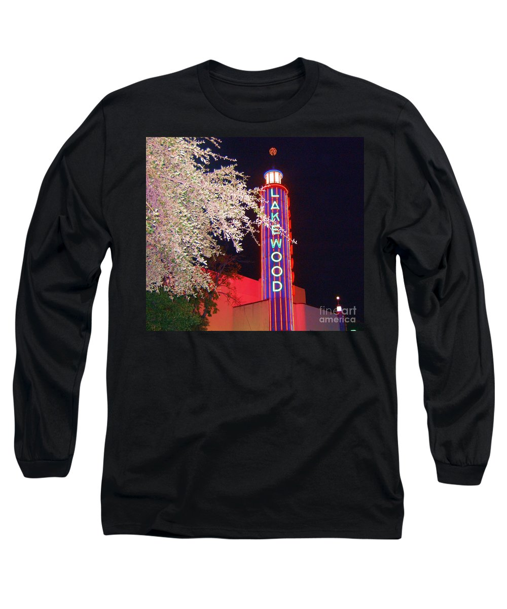 Theater Long Sleeve T-Shirt featuring the photograph Lakewood Theater by Debbi Granruth
