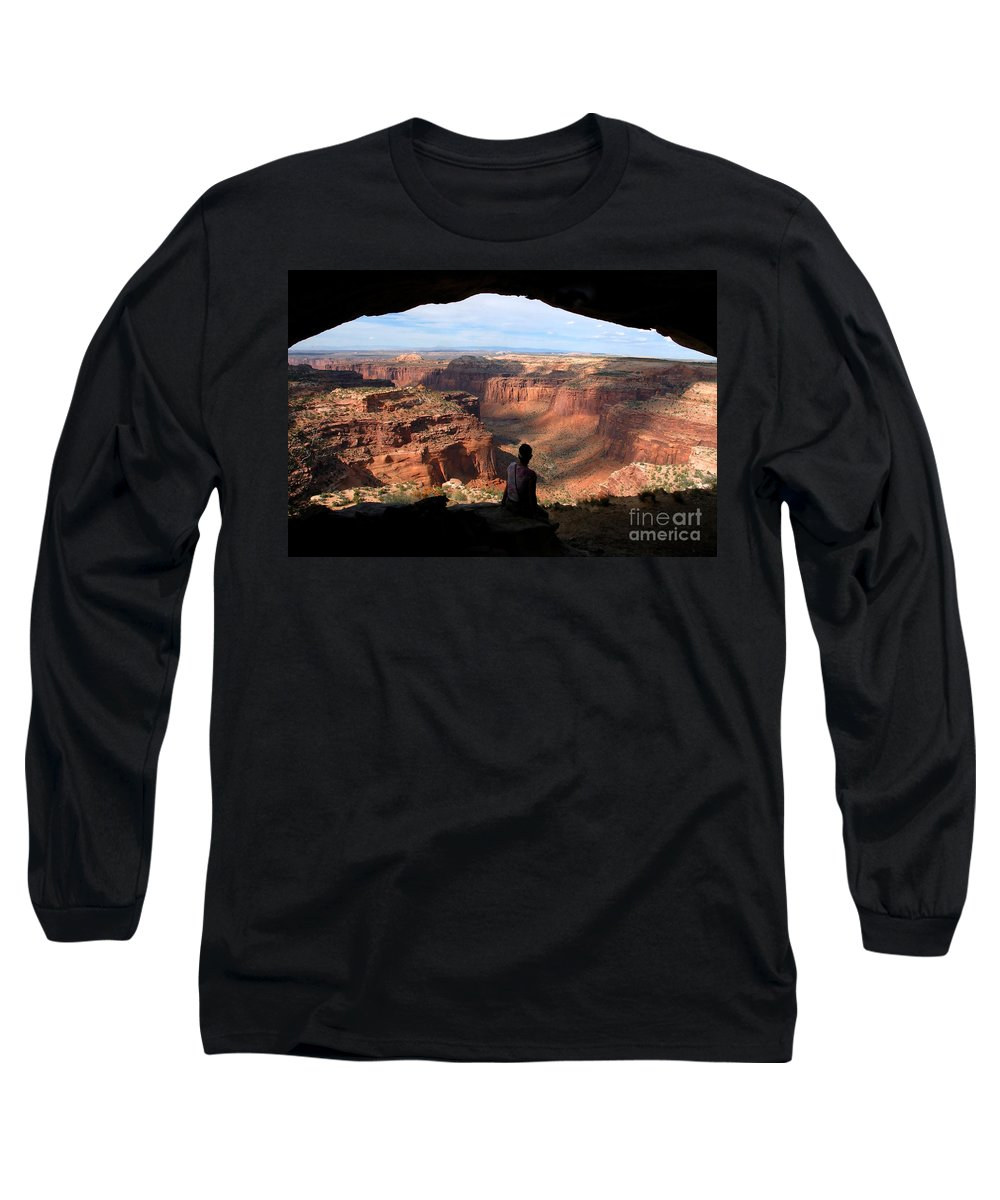 Canyon Lands National Park Utah Long Sleeve T-Shirt featuring the photograph Land Of Canyons by David Lee Thompson