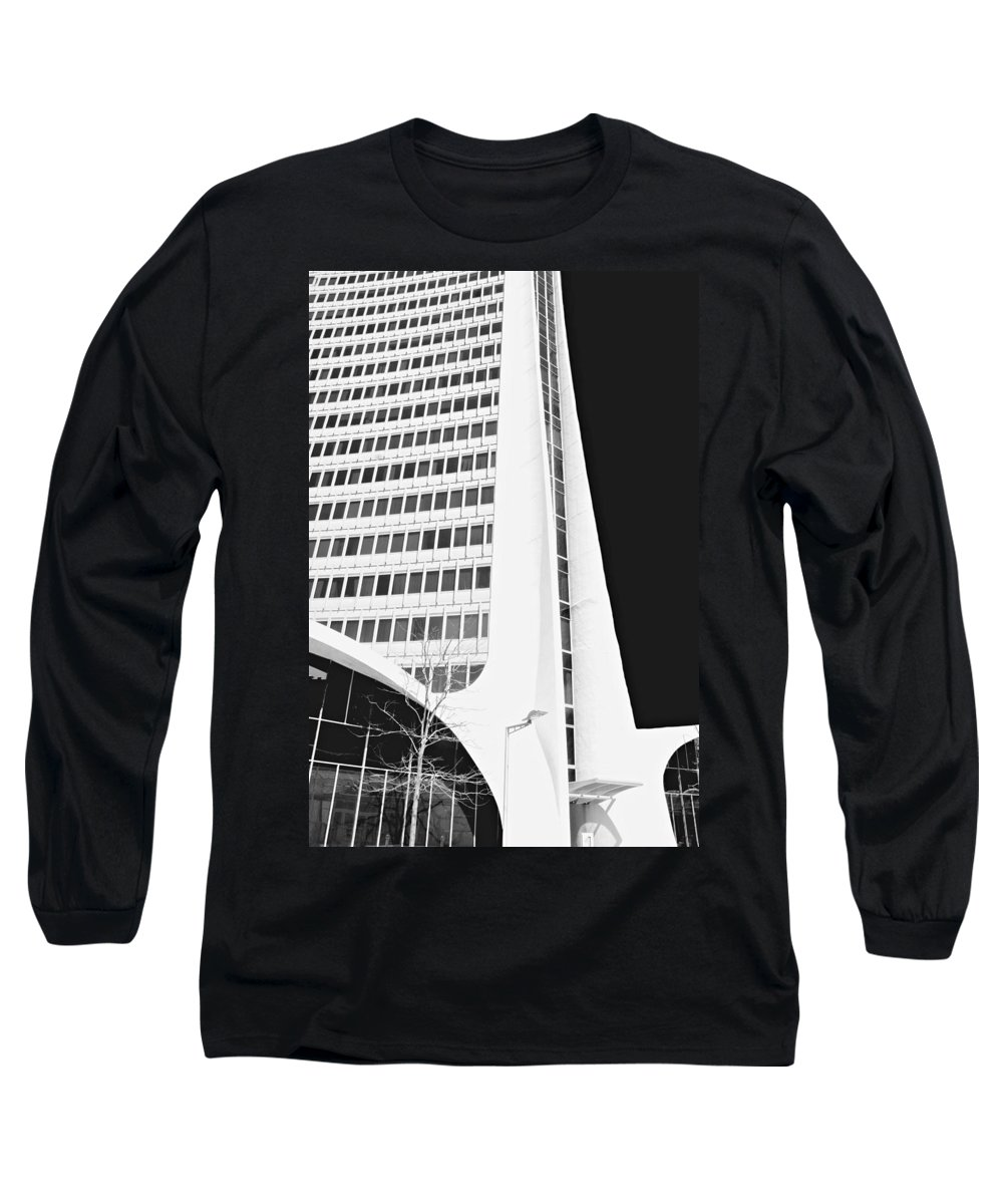 Architecture Long Sleeve T-Shirt featuring the photograph Landmark Square Facade by Diana Angstadt