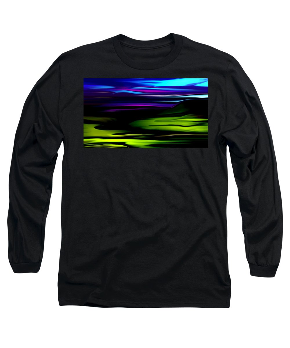 Abstract Expressionism Long Sleeve T-Shirt featuring the digital art Landscape 8-05-09 by David Lane