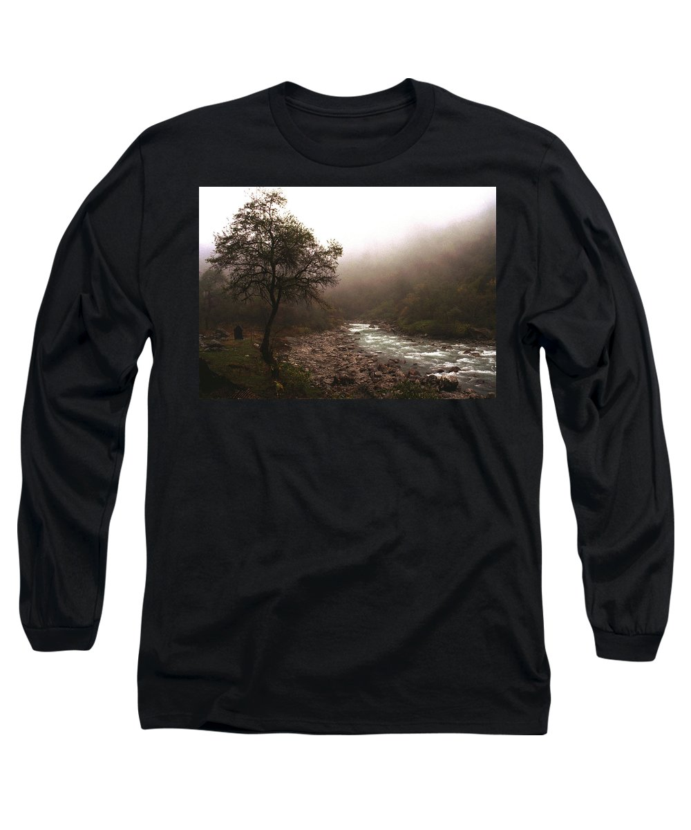 Tree Long Sleeve T-Shirt featuring the photograph Langtang Morning by Patrick Klauss