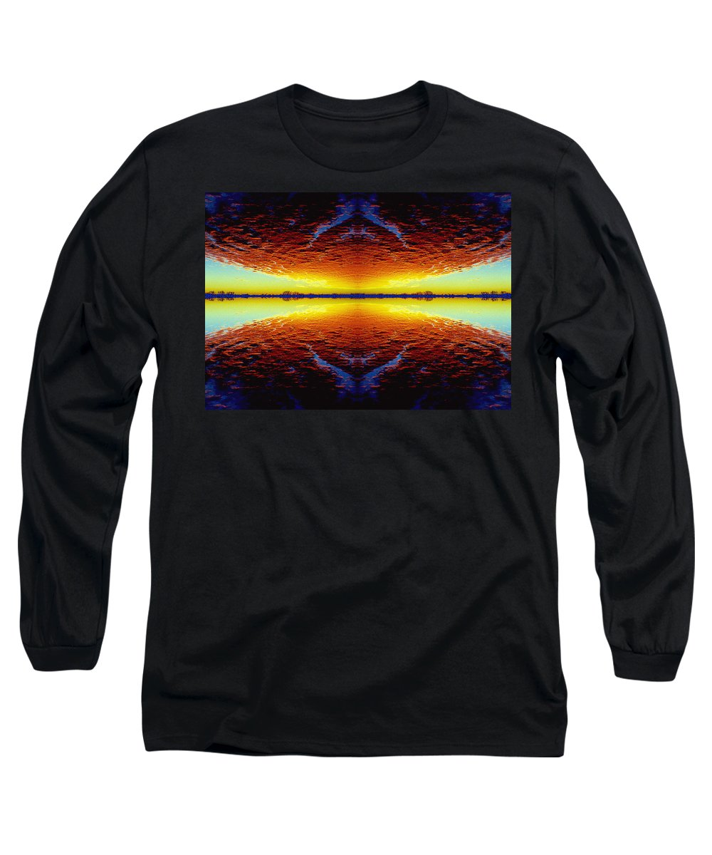 Sunset Long Sleeve T-Shirt featuring the photograph Last Sunset by Nancy Mueller