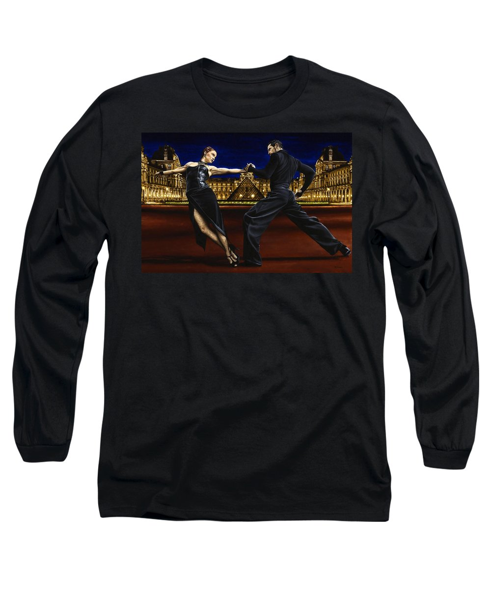 Tango Long Sleeve T-Shirt featuring the painting Last Tango In Paris by Richard Young