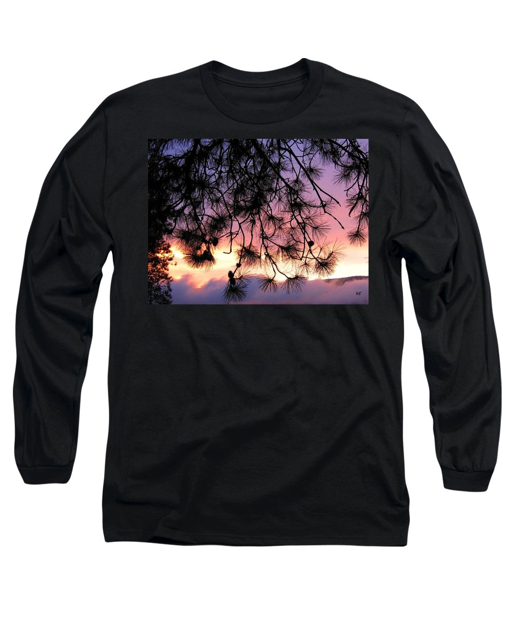 Sunset Long Sleeve T-Shirt featuring the photograph Lavender Sunset by Will Borden