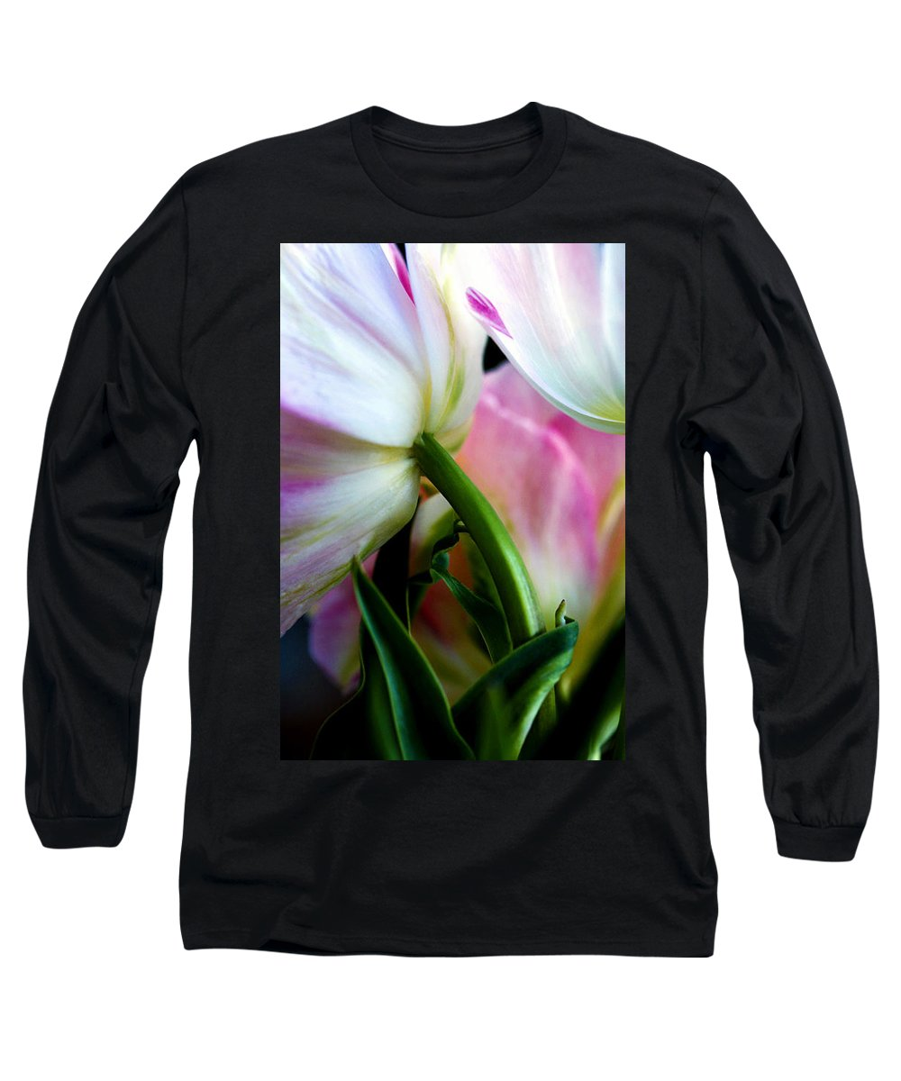 Flower Long Sleeve T-Shirt featuring the photograph Layers Of Tulips by Marilyn Hunt