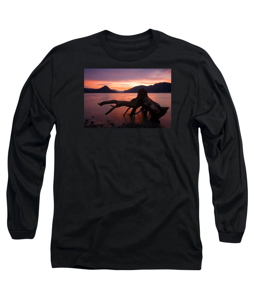 Stump Long Sleeve T-Shirt featuring the photograph Left Behind by Mike Dawson