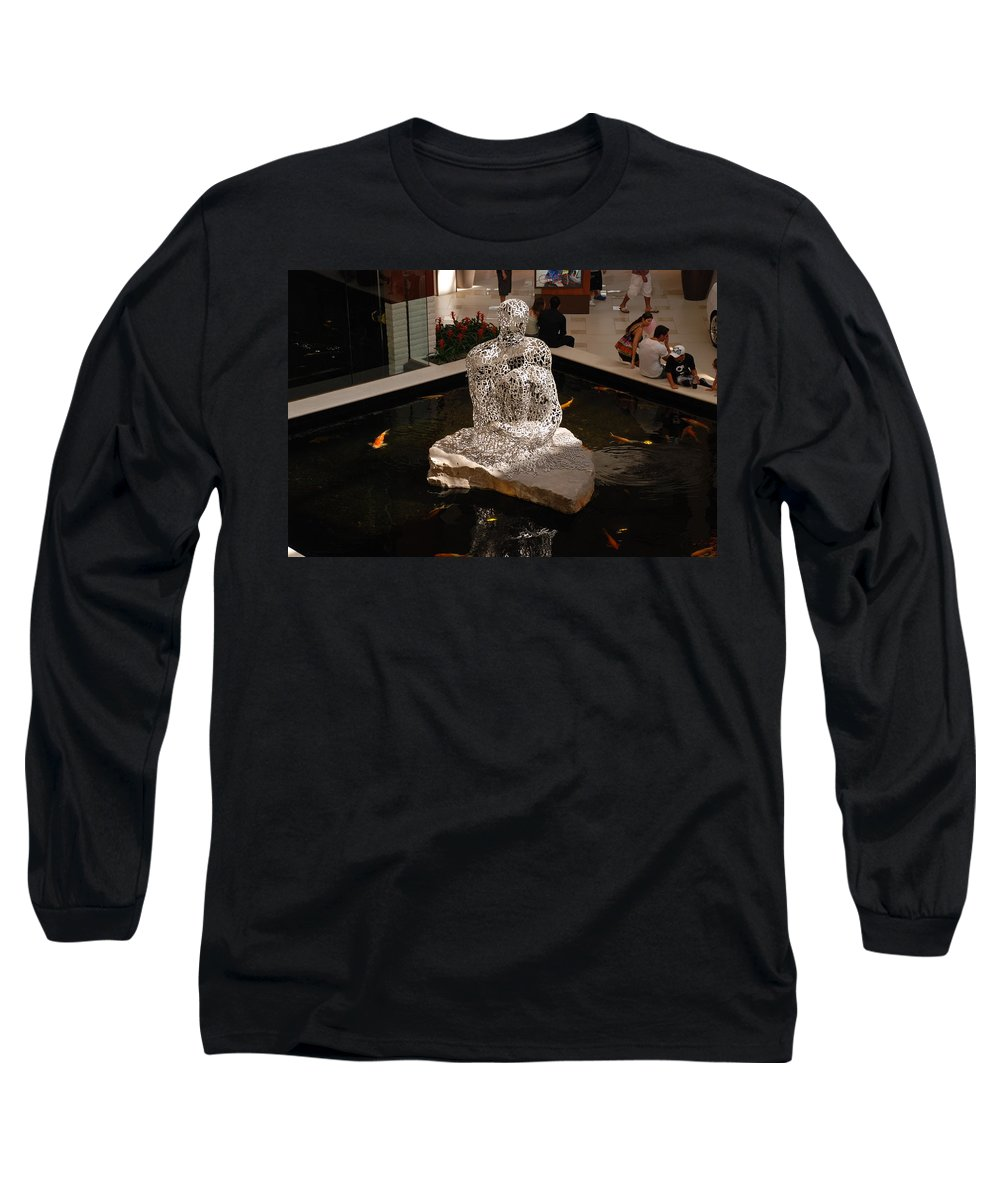Letters Long Sleeve T-Shirt featuring the photograph Letterman By Coy by Rob Hans