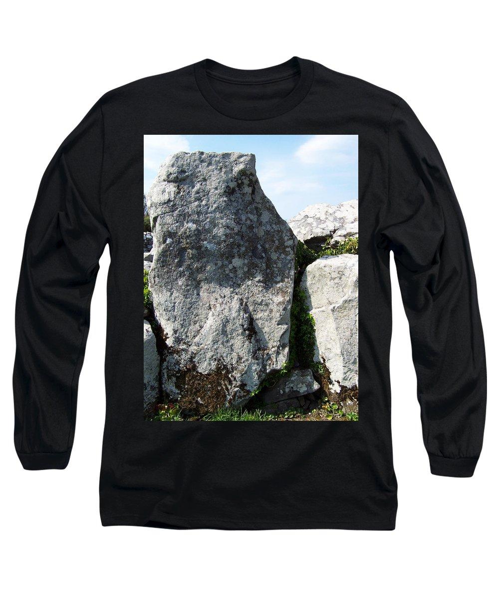 Irish Long Sleeve T-Shirt featuring the photograph Life At Creevykeel Court Cairn Sligo Ireland by Teresa Mucha