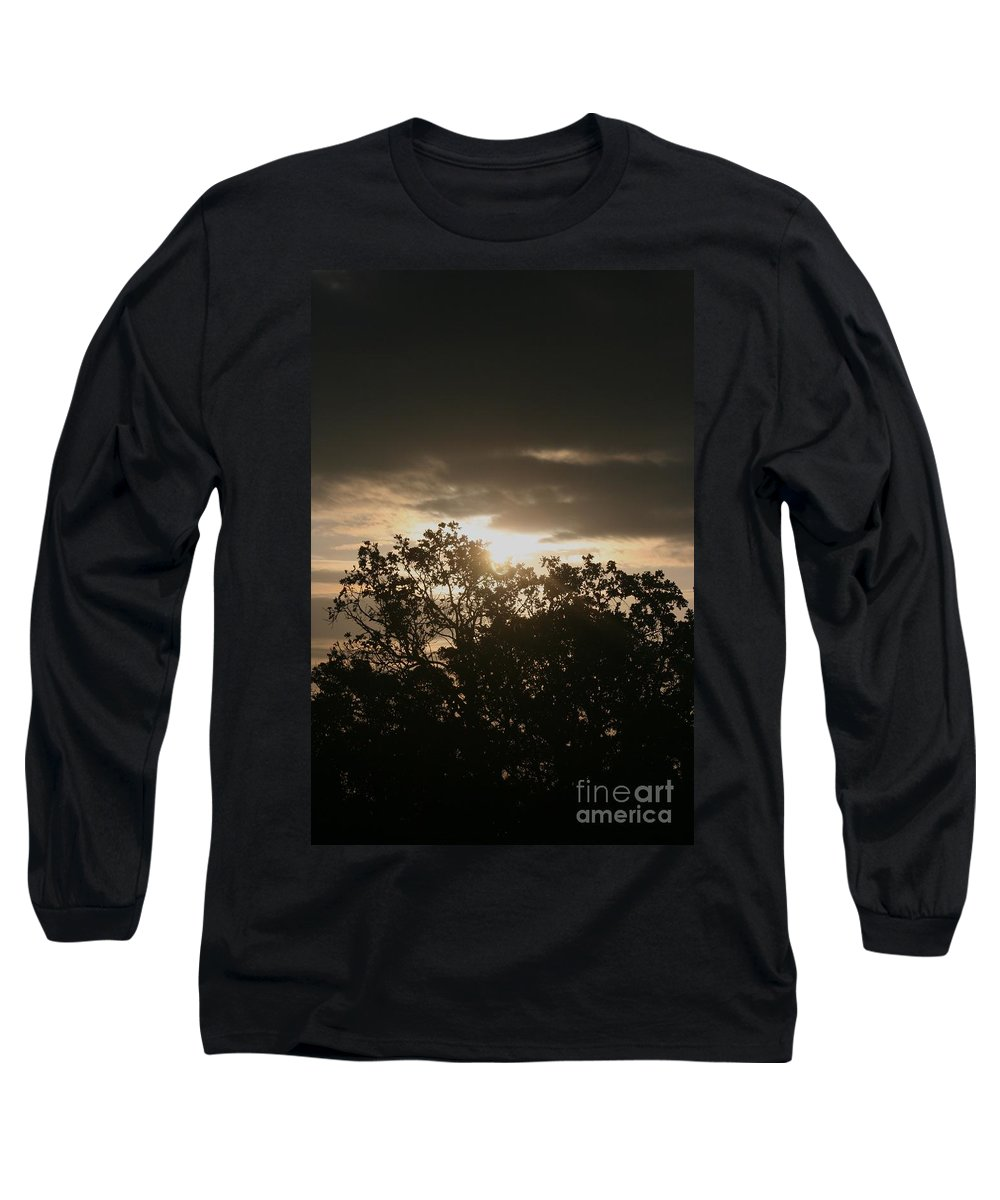 Light Long Sleeve T-Shirt featuring the photograph Light Chasing Away The Darkness by Nadine Rippelmeyer