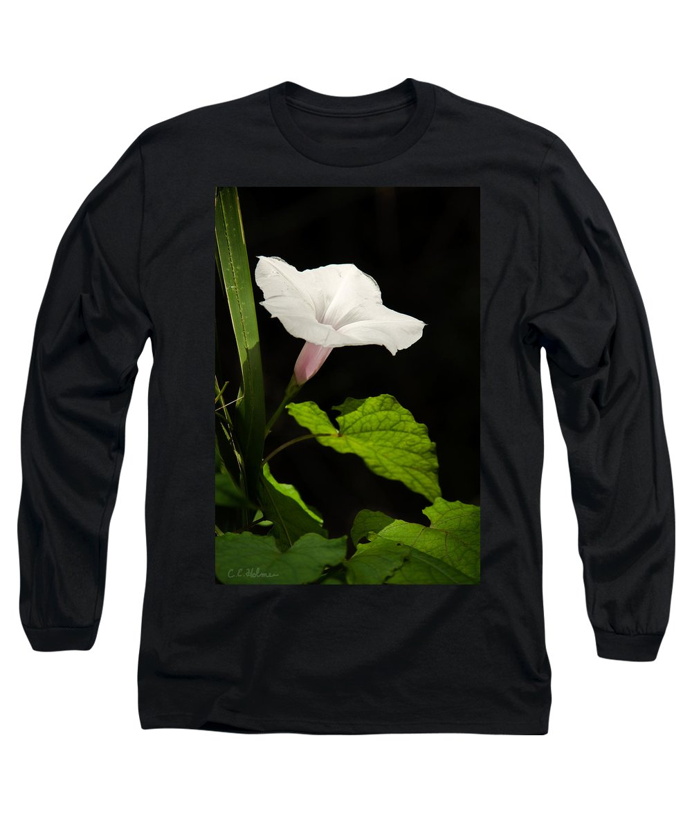 Flower Long Sleeve T-Shirt featuring the photograph Light Out Of The Dark by Christopher Holmes