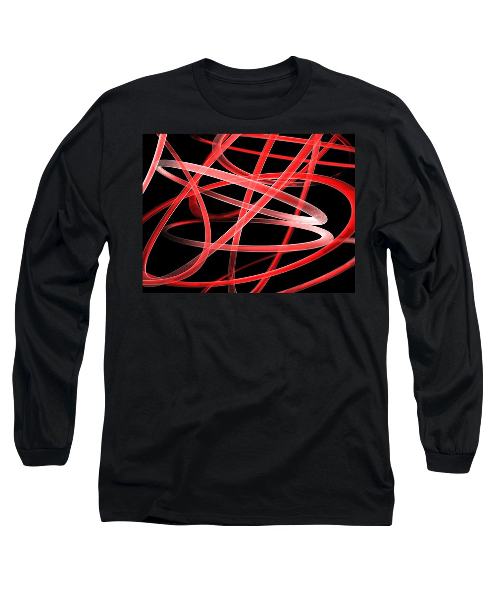 Scott Piers Long Sleeve T-Shirt featuring the painting Light Red by Scott Piers