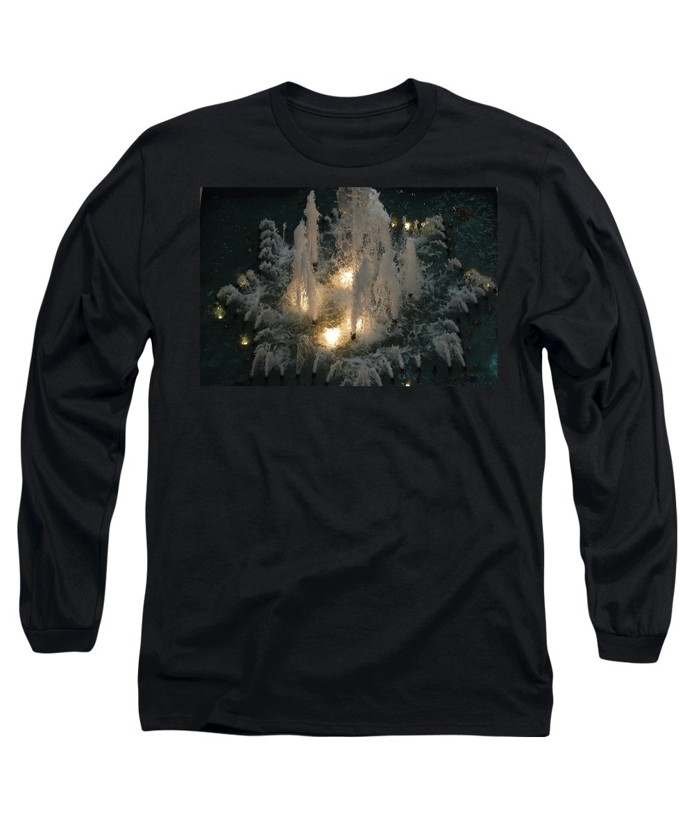 Lights Long Sleeve T-Shirt featuring the photograph Lighted Fountain by Rob Hans