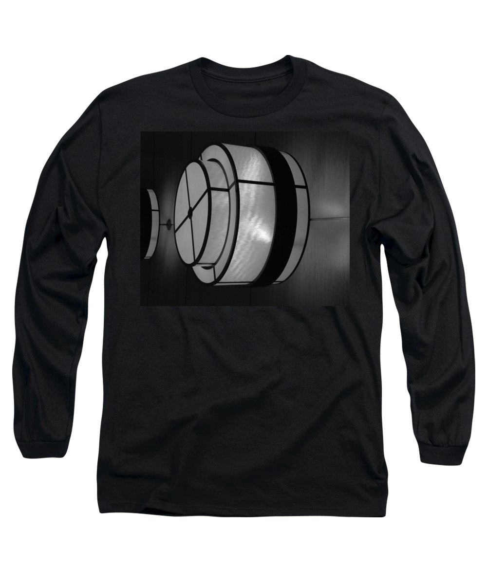 Black And White Long Sleeve T-Shirt featuring the photograph Lighted Wall In Black And White by Rob Hans