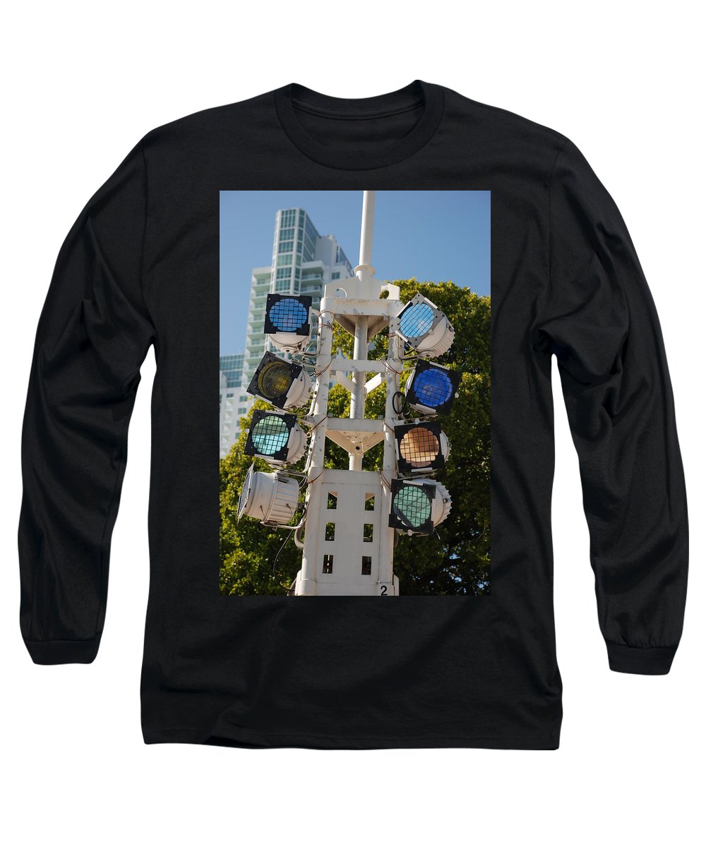 Lights Long Sleeve T-Shirt featuring the photograph Lights by Rob Hans