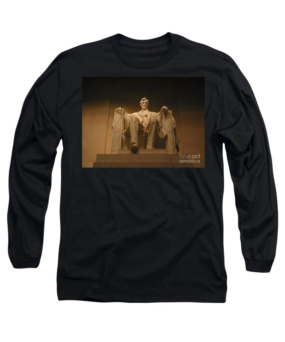 Abraham Lincoln Long Sleeve T-Shirt featuring the photograph Lincoln Memorial by Brian McDunn