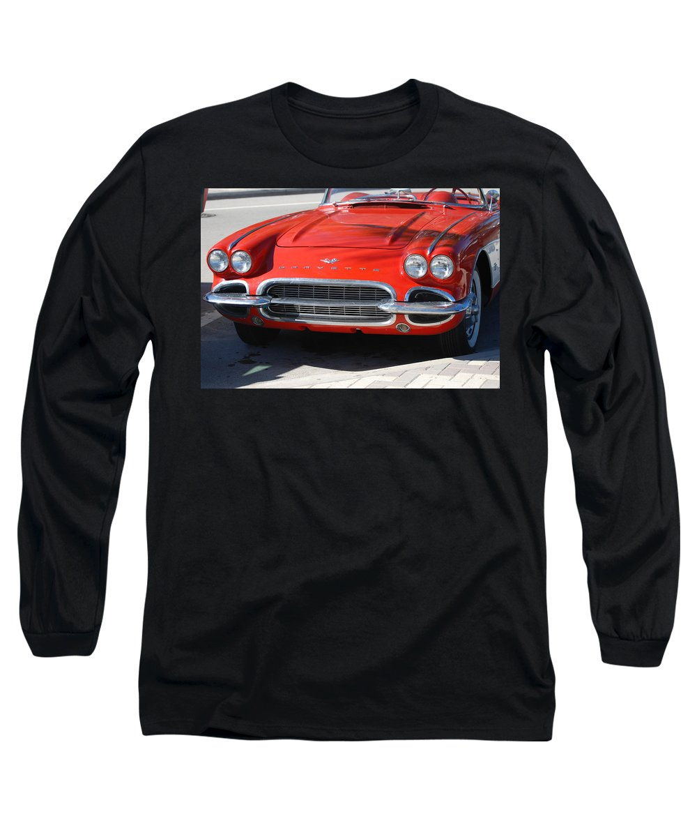 Corvette Long Sleeve T-Shirt featuring the photograph Little Red Corvette by Rob Hans